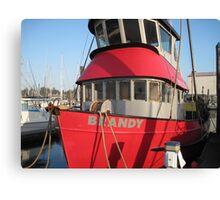 "Fishing boat ""Brandy"" Canvas Print"