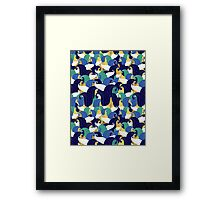 abstract pattern from leaves Framed Print