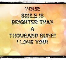Your smile...greeting card by Nicola jayne