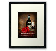 Literary Red Wine Framed Print