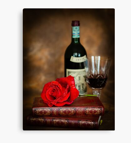 Literary Red Wine Canvas Print