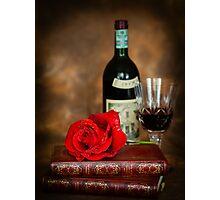Literary Red Wine Photographic Print