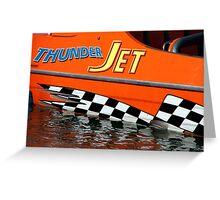 Thunder Jet Greeting Card