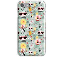 texture of funny cats with glasses iPhone Case/Skin