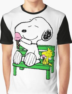 Snoopy and Woodstock Ice Cream Graphic T-Shirt