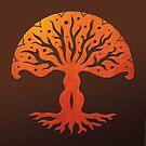 Tree of Life, Woodcut (viviána) by peter barreda