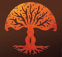 Tree of Life, Woodcut (viviána) by peter barreda