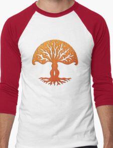 Tree of Life, Woodcut (viviána) Men's Baseball ¾ T-Shirt