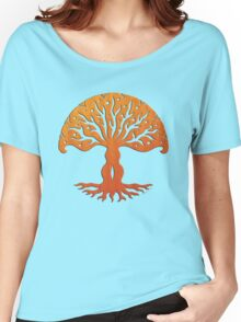 Tree of Life, Woodcut (viviána) Women's Relaxed Fit T-Shirt