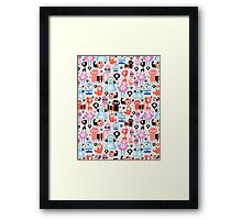 texture of funny monsters Framed Print