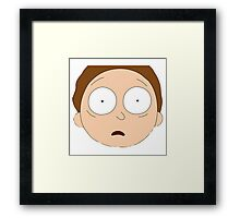 Rick And Morty - Morty Face Framed Print