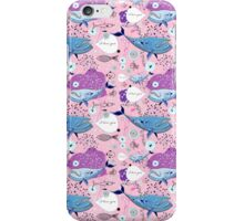 pattern of whale lovers iPhone Case/Skin