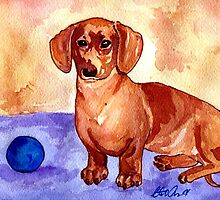 Dachshund Dog Portrait by Oldetimemercan