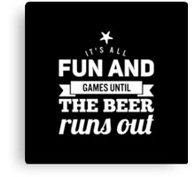 Fun and Games (black and white) Canvas Print
