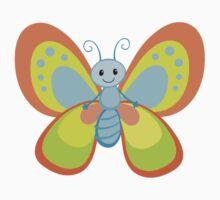 Cute Cartoon Butterfly Kids Tee