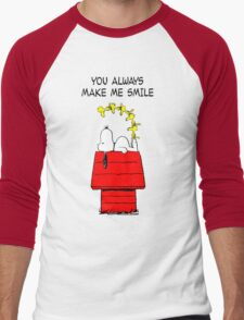 Snoopy Smiling Men's Baseball ¾ T-Shirt