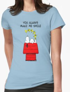 Snoopy Smiling Womens Fitted T-Shirt