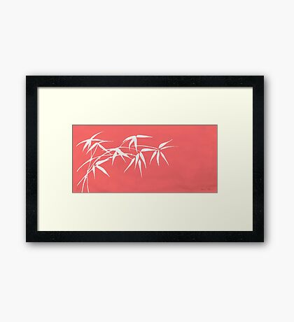Red bamboo Framed Print