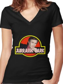 Alan Partridge jurassic park t shirt Women's Fitted V-Neck T-Shirt