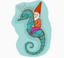 fairytale dwarf riding a seahorse Unisex T-Shirt