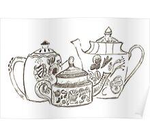 Three Teapots Poster