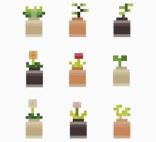 Mini Pixel Plant Pots - Set of 9 by pixelatedcowboy