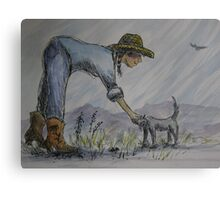 Cowgirl Series: Unexpected Friend Canvas Print