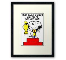 Winner Snoopy Framed Print