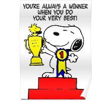 Winner Snoopy Poster