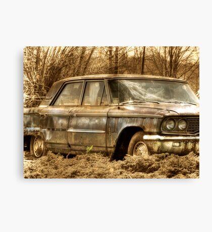 Abandoned Car rustic rural decay Canvas Print