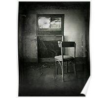 Abandoned Chair spooky creepy halloween art Poster