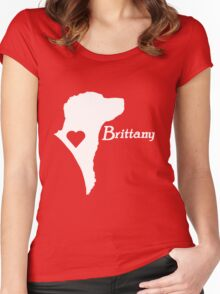 Brittany <3 in white! Women's Fitted Scoop T-Shirt
