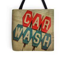 Retro Car Wash Sign Tote Bag