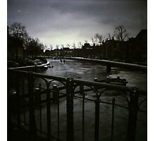 Winter 2012 - Skating on a Dutch Canal Photographic Print