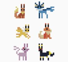 Mini Pixel Eeveelutions - Set of 6 by pixelatedcowboy