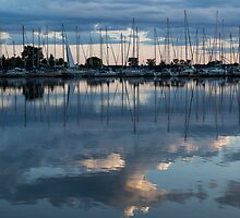 Reflecting on Boats and Clouds II by Georgia Mizuleva
