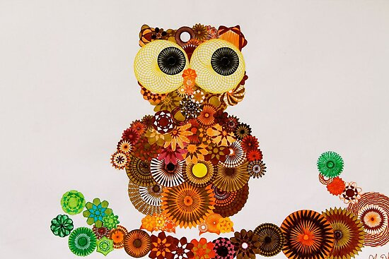 Spirograph Owl! by RachelEDesigns