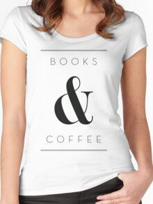 books & coffee Women's Fitted Scoop T-Shirt