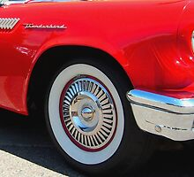 Red Ford Thunderbird - Classic Hot Rod by Amy McDaniel