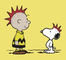 Snoopy and Charlie Brown Punk Baby Tee
