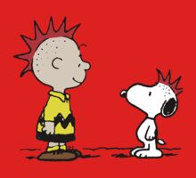 Snoopy and Charlie Brown Punk Kids Tee