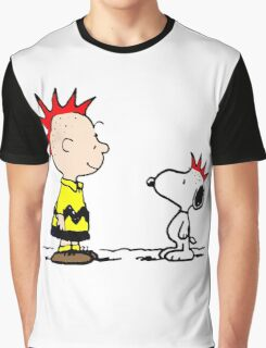Snoopy and Charlie Brown Punk Graphic T-Shirt