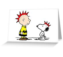 Snoopy and Charlie Brown Punk Greeting Card