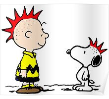 Snoopy and Charlie Brown Punk Poster