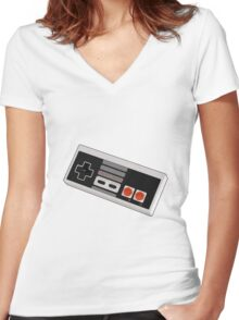Game controller Women's Fitted V-Neck T-Shirt