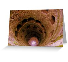 ...the initiatic well... Greeting Card