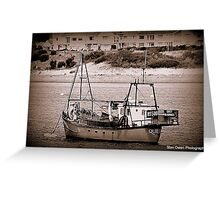 Fishing Vessel Quest. Greeting Card