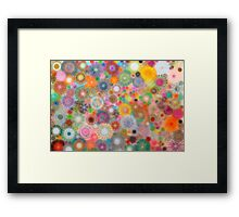 Childhood Dreams - shiney Spirograph Art Framed Print