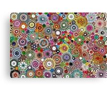 Childhood Dreams - Painted Spirograph Art Canvas Print