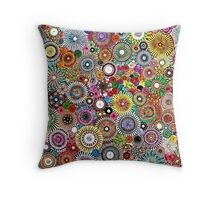 Childhood Dreams - Painted Spirograph Art Throw Pillow